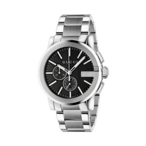 G-Chrono Black Dial Stainless Steel Men's Watch
