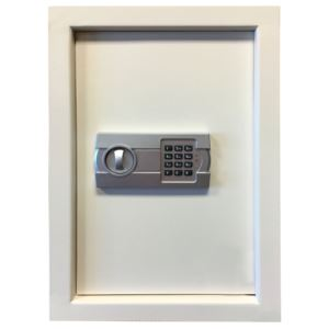 Wall Safe w/ Electronic Lock Beige