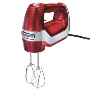 Professional 5 Speed Hand Mixer Red