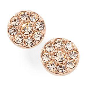 Disc Stud Earrings-Rose