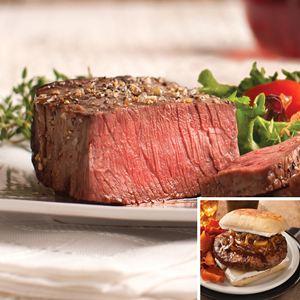4 (5 oz.) Top Sirloins & 6 (4 oz.) Omaha Steaks Burgers
