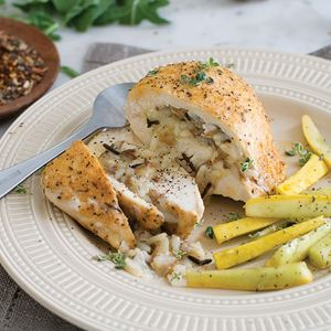 4 (7.75 oz.) Breast of Chicken with Wild Rice