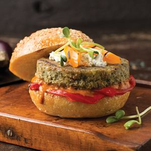 4 (4 oz.) Vegetarian Burgers