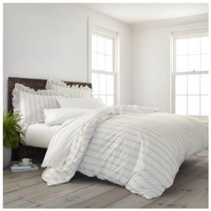 Comfort Wash Brooke Full Queen Comforter Set - (Gray)