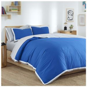 Full Queen Comforter Set With Antimicrobial Technology - (Blue)