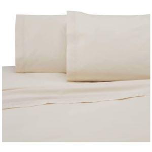 225 Thread Count Standard Pillowcase Pair - (Ivory)