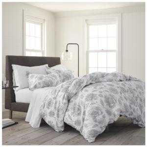 Comfort Wash Meadow Walk King Comforter Set - (Gray)