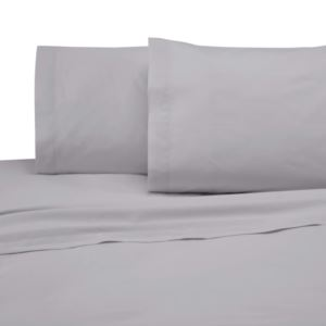 225 Thread Count Standard Pillowcase Pair - (Light Gray)