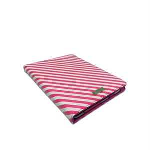 Candy Stripe iPad Folio - Pink/White