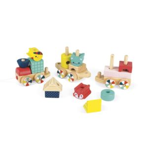 Baby Forest Wooden Stacking Train Ages 1+ Years