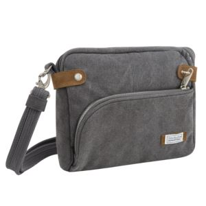 Anti-Theft Heritage Crossbody Bag Pewter