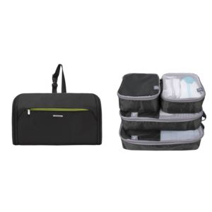 Flat-Out Toiletry Kit w/ Set of 4 Packing Organizers