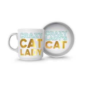 Howligans - Mug Cat Bowl-Crazy Cat