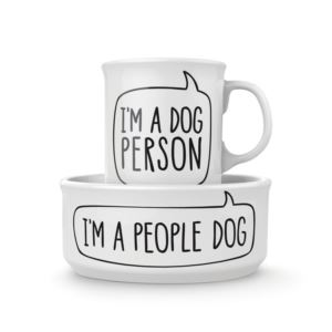 Howligans - Mug+Dog Bowl-Dog Person