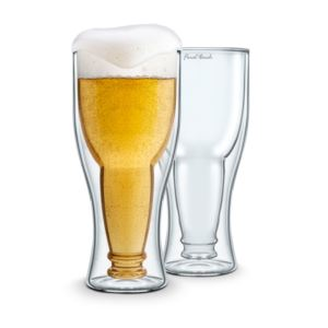 Bottoms UP Double Wall Beer Glass - 2 pack