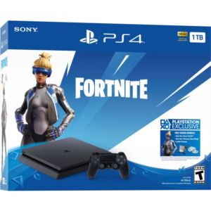 PS4 1 TB Console w/ Fortnite Code & DualShock 4 Wireless Controller