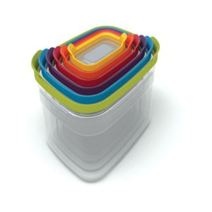 Nest Storage Plastic Food Containers Set Set of Six with Covers (Multicolored)