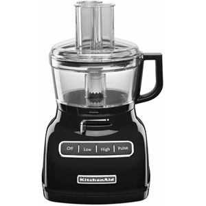 ExactSlice System 7-Cup Food Processor with External Adjustable Lever- Onyx Black