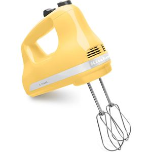 Ultra Power 5-Speed Hand Mixer in Majestic Yellow