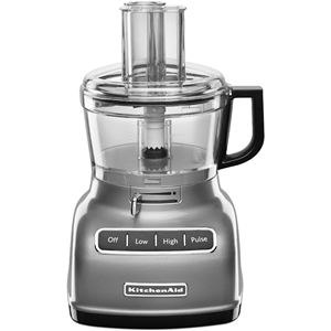 ExactSlice System 7-Cup Food Processor with External Adjustable Lever in Contour Silver