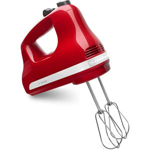 Ultra Power 5-Speed Hand Mixer in Empire Red