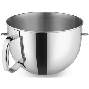 6 Qt. Polished Stainless Steel Bowl with Comfort Handle for KitchenAid Bowl-Lift Stand Mixers