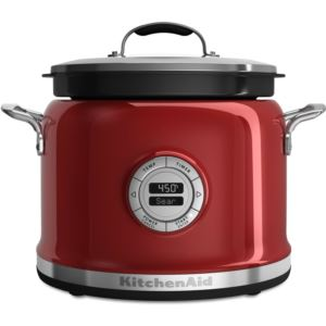 4-Quart Multi-Cooker in Candy Apple Red