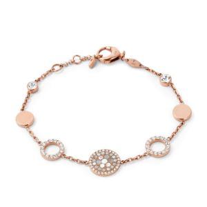 Pearl Disk Station Bracelet