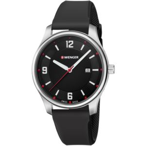 City Active Small, Black dial and black silicone strap