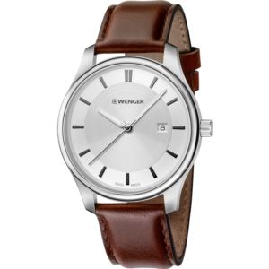 City Classic Small, White dial and Brown Leather Strap