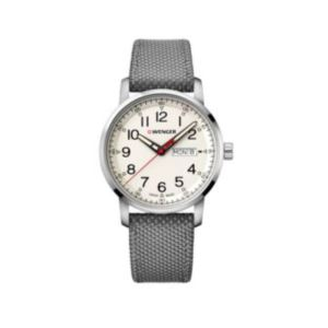 Attitude Heritage White Dial, Grey Nylon Strap Geniune leather underside Large - 42 mm