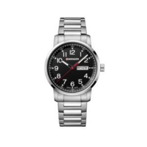Attitude Heritage Black Dial, Stainless Steel Bracelet Large - 42 mm