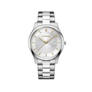 City Classic Large Two Tone Silver Dial with Stainless Steel Bracelet