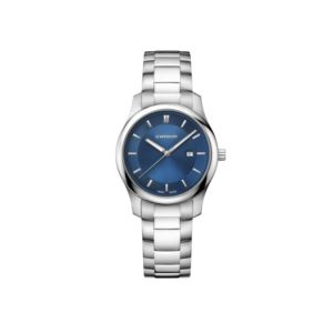 City Classic Small Blue Dial with Stainless Steel Bracelet