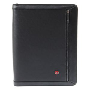 Negotiator Zippered Leather Padfolio