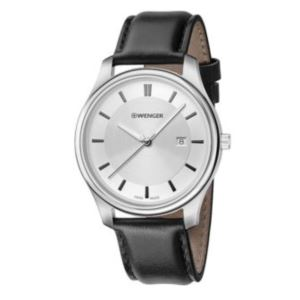 City Classic Large White dial and Black Leather Strap