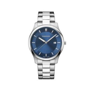 City Classic Large Blue Dial with Stainless Steel Bracelet