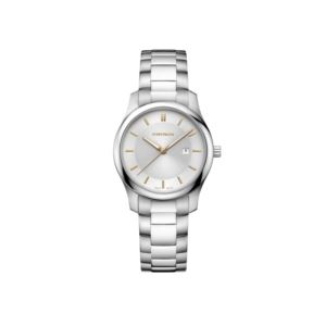 City Classic Small Two Tone Silver Dial with Stainless Steel Bracelet
