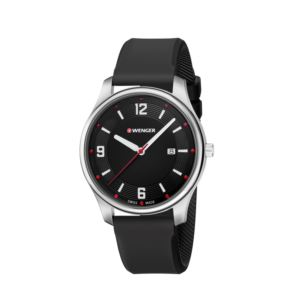 City Active Large, Black dial and black silicone strap