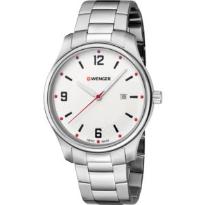 City Active Small, White dial and stainless steel bracelet