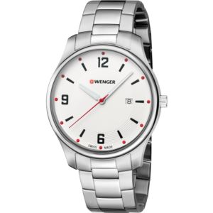 City Active Large, White dial and stainless steel bracelet