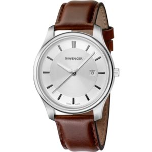 City Classic Large White dial and Brown Leather Strap
