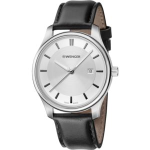 City Classic Small, White dial and Black Leather Strap