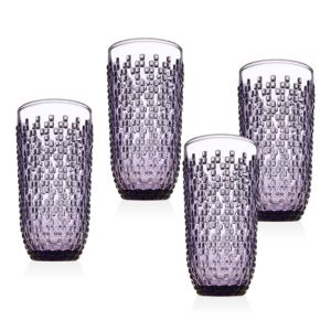 8.5 Ounce Alba DOF Glasses - (Set of 4) - (Amethyst)