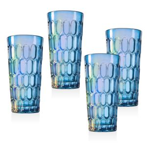 12 Ounce Tumblers - (4 Piece) - (Blue)