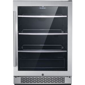 The Vault 24 In. Single Zone Beverage Center with 172-Can Capacity and Door Lock