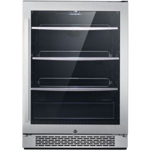Luxury Series 24 In. Single Zone Beverage Center with 172-Can Capacity and Door Lock