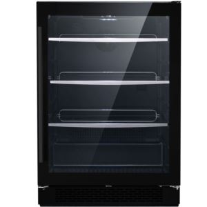Vault Series 24-In. Single Zone Black Beverage Center with 172-Can Capacity and Reversible Door Hing