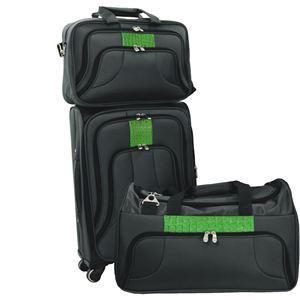 Traveler 3-Piece Luggage Set in Black