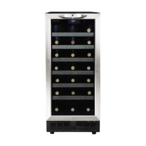 Chesire 34 Black/Stainless Steel Bottle Integrated Wine Cooler